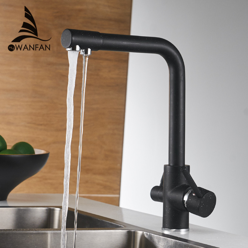 Kitchen Faucets Deck Mounted Mixer Tap 360 Degree Rotation with Water Purification Features Mixer Tap Crane For Kitchen WF-0175 newly arrived pull out kitchen faucet gold sink mixer tap 360 degree rotation torneira cozinha mixer taps kitchen tap