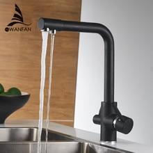 מסנן מטבח ברזי סיפון רכוב מיקסר ברז 360 סיבוב עם מים טיהור תכונות מיקסר ברז מנוף למטבח WF 0175