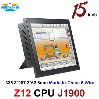 цена на Made-In-China 5 Wire Resistive Touch Screen PC With 15 Inch Celeron J1900 2G RAM 32G SSD All In One Touchscreen PC
