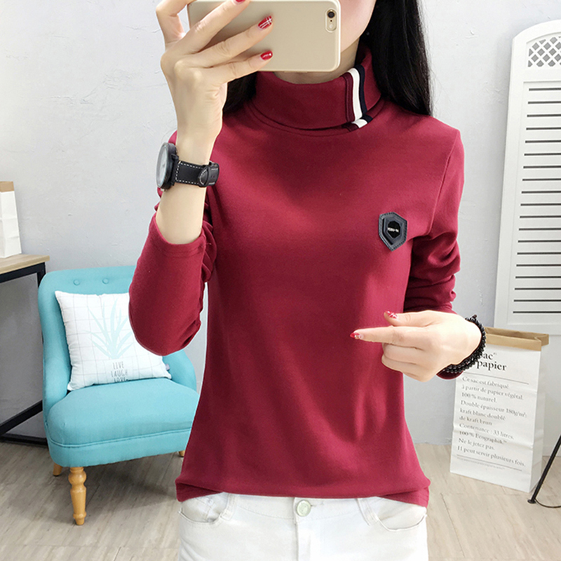 Camisas Femininas Manga Longa 2017 Slim Knitted Striped Cotton Women Blouses Casual Womens Shirt Long Sleeve