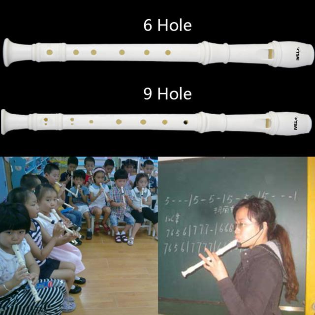 6/9 Holes Long Flute Instrument for Children Educational Tool Musical Recorder Sopran Popular New