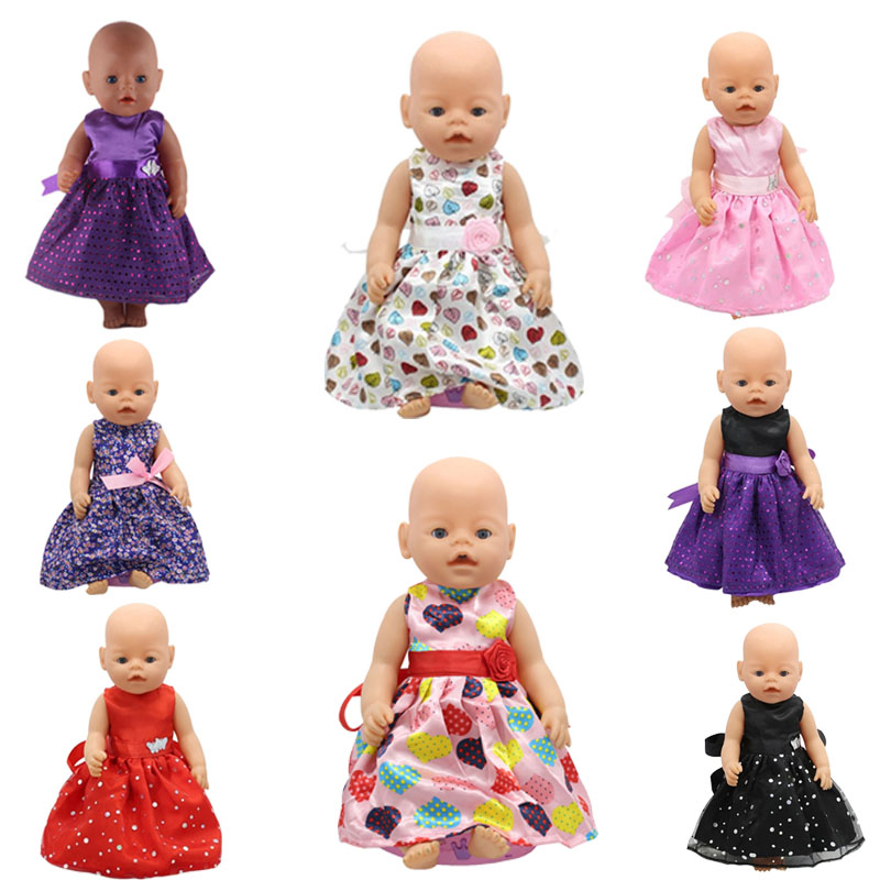 Fashion 8 styles bow princess skirt suitable for 43cm baby born zaps doll clothes accessories non point source pollution modelling with gis