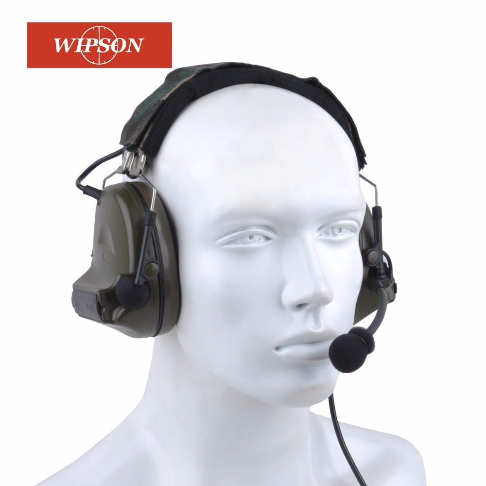 WIPSON Tactical comtac headphone Comtac II Headset Airsoft Paintball Hunting Headset Style Active Noise Canceling Headphone цена 2017