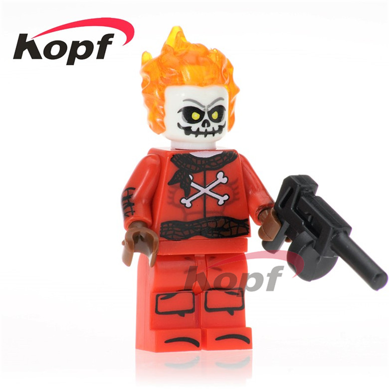 20Pcs PG236 Building Blocks Human Torch Blazing Skull Invisible Woman Super Heroes Bricks Collection DIY Toys for children Gift