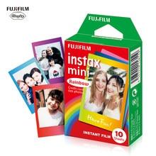Fujifilm 10 Sheets Colorful Rainbow Film Photo Paper Snapshot Album Instant Print For Instax Mini 7s 8 25 90