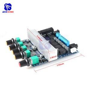 Image 4 - Tpa3116 2.1 placa de amplificador de áudio dc 12 24 v módulo amplificador subwoofer de alta fidelidade digital super baixo alto falante 50 w + 50 w + 100 w
