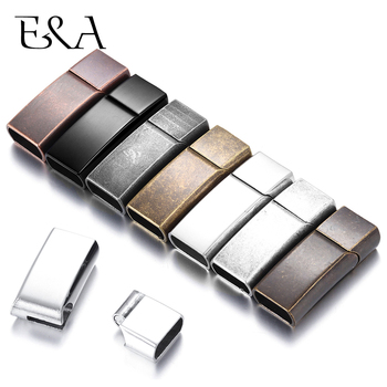 Stainless Steel Magnetic Clasps Flat Rectangle Hole 12*6mm for Leather Cord Bayonet Clasp Bracelet  DIY Jewelry Making Supplies stainless steel magnetic clasps hole 12 6mm for leather cord bracelet magnet clasp buckle diy jewelry making supplies accessory