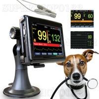 Veterinary pulse oximeter patient monitor with vet Spo2 probe Pulse Rate Blood Oxygen Saturation veterinary,animal Oximetro