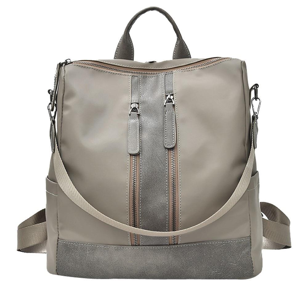 Fashion Women Nylon Student Bag Shoulder Crossbody Bag Zipper Travel Bag For Girls school Handbag letter patches nylon crossbody bag