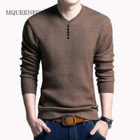 2018 New Pullover Men V Neck Sweater Mens Sweaters Casual Wool Men Long Sleeve Shirt Cashmere