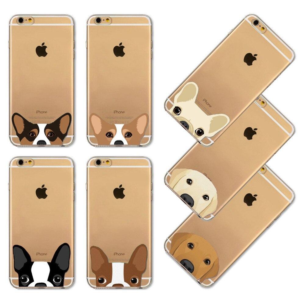 Teléfono case para iphone 4 4s 5 5s se 6 6 s 6 más 6 splus cubierta de tpu suave