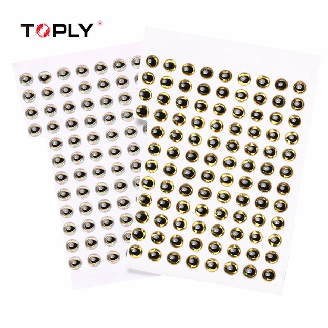TOPLY 200pcs/lot 6mm 3D Holographic Fishing Lure Eyes Soft Fishing Bait  Artificial Fishing Lure Drop shaped Fisheye Epoxy Resin-in Fishing Lures  from