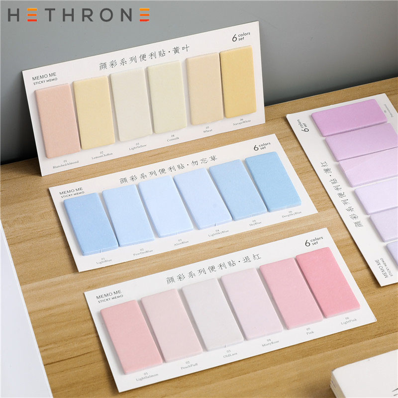 Hethrone Colorful Candy Color Classified Sticky Notes Stationery Scrapbooking Papeleria Stickers Planner Memo Pads Planner Stick