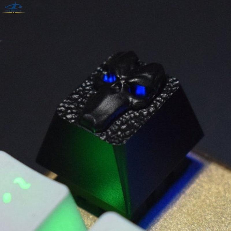 HFSECURITY Darksiders Death Mask Backlit Gaming Keyboard Keycaps Aluminum Alloy Mechanical Keyboard Keycaps