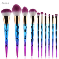 5pcs 7pcs 10pcs Women Makeup Brushes Set Spiral Handle Cosmetic Foundation Eyeshadow Blusher Powder Blending Brush