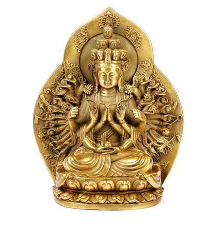 Open Light, Pure Copper, A Buddism Godness Guanyin, Avalokitesvara, Crafts, Guanyin Bodhisattva, Buddha Statue~