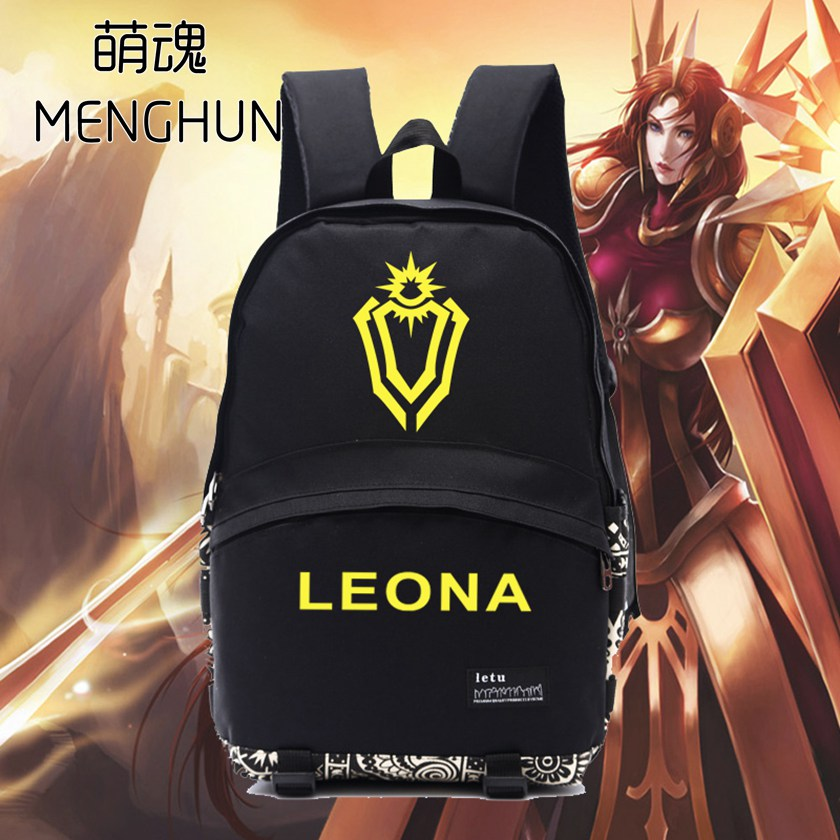 los fans del juego mochila hroe lol leona concepto nuevo diseo escudo juego mochilas nb lol fans regalo para el novio
