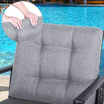 Muebles Seccionales Al Aire Libre   De Ratán Patio Silla De Juego De Muebles Al Aire Libre De Con Acolchado Sofá Seccional Jardín Patio Muebles De Jardín