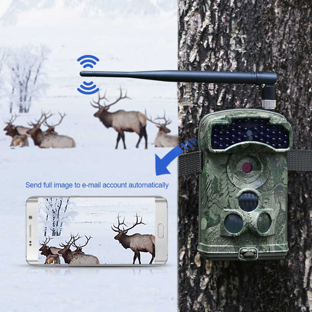 US $388 4 48% OFF|12MP 1080P Wireless 3G Trail Camera Hunting Game Camera  Wildlife Scouting Camera with Infrared Night Vision IP66 Waterproof-in