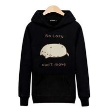 Cotton Harajuku hip hop Lazy Cat Sweatshirt Hoodie Fashion Hoodies Tracksuit Hoody Winter High Quality Sudadera Hombre Clothing