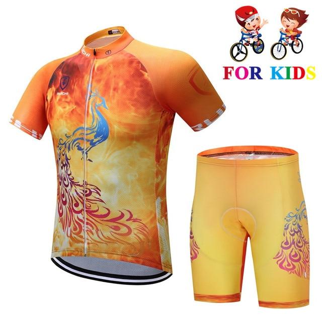 Niños Ciclismo bicicleta Jersey conjuntos niños ropa Ciclismo equipo bicicleta Ciclismo niños niñas MTB superior traje de