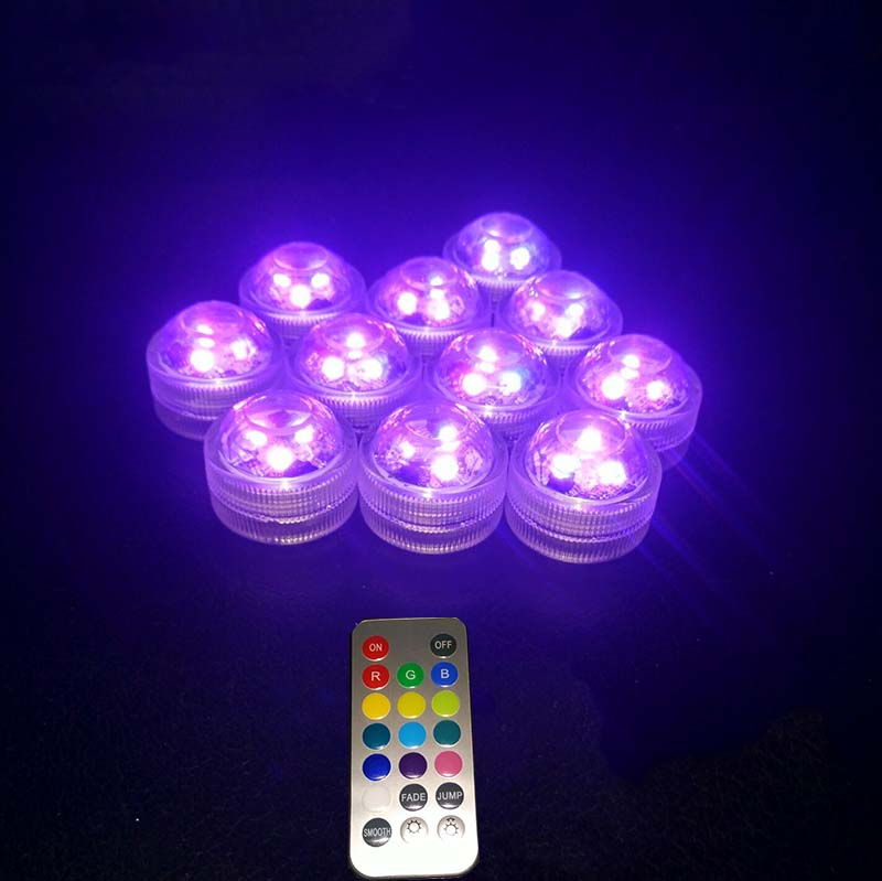 10PCS Super lyse 3smd te lys nedsenkbar ledet lys vanntett Bryllup / - Ferie belysning - Bilde 2