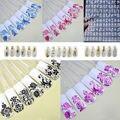 Nova Prata do Ouro 3D Art Nail Stickers Decalques, 108 pcs/sheet Metálico Elegante Projetos Mistos Prego Dicas Acessório decoração Ferramenta