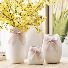 Ceramic Desktop Vase Ornaments European Creative white vase decoration Home Furnishing office household decor floral receptacle