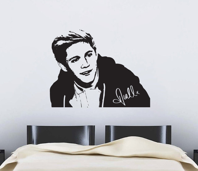 Famous Portrait Series Wall Mural D One Direction Niall Vinyl - One direction wall decals