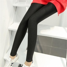 065d6e2b349 3XL Plus Size Spring Autumn Leggings Fashion Women Glittering High Elastic  Slim Black Leggings Fashion Pencil