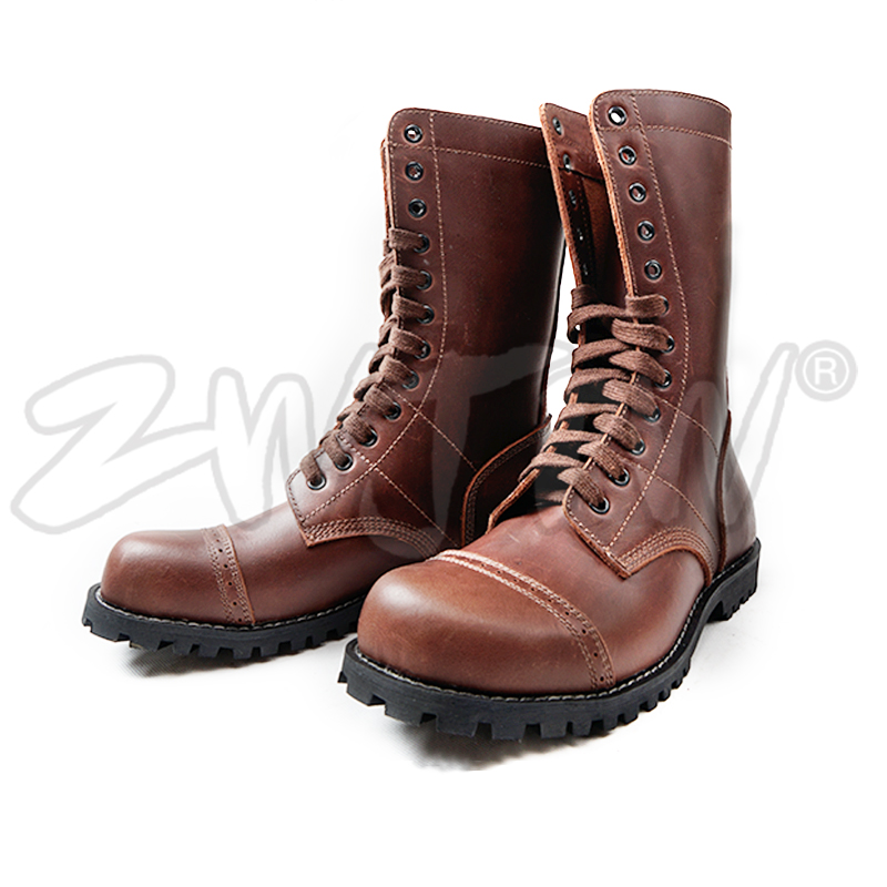 WW2 US Army Airborne Paratroopers Boots shoes Lace up Real Leather High Quality US/406101 airborne pollen allergy