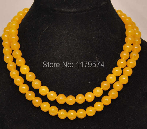 beautiful long dress Wholesale woman jewelry 10mm new fashion free shipping Natural South America Jade stone necklace W0422