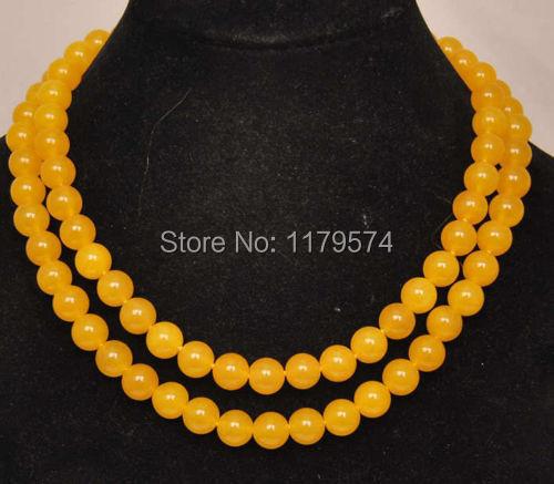 Belo vestido longo mulher de jóias Por Atacado 10mm de moda de nova frete grátis Natural América Do Sul Jade pedra colar W0422