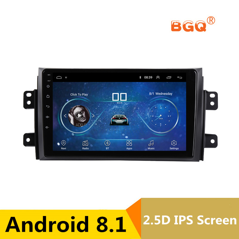 9 inch Android 8.1 Car DVD Player GPS for Suzuki SX4 2006-2012 2013 audio car radio stereo navigator with bluetooth wifi seicane quad core 2din 9 android 6 0 car gps radio 1g 16g for 2006 2012 suzuki sx4 with bluetooth wifi support mirror link dvr