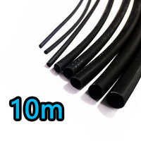 10 m/lot 2: 1 thermorétractable noir 1 2 3 5 6 7 8 9 10 gaine thermorétractable diamètre 12mm à vendre connecteur de bricolage réparation