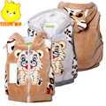 New 2016 Spring Autumn Tiger style  Hooded Vest Waistcoat Children Outerwear Baby vest Baby Outerwear