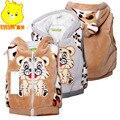 Novo 2016 Primavera Outono estilo Tigre Com Capuz Colete Crianças colete Bebê Outerwear Bebê Outerwear