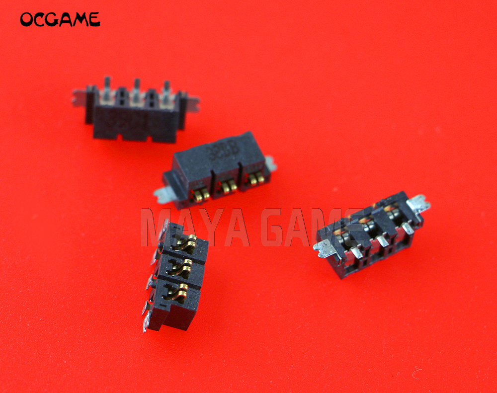 OCGAME 60pcs/lot Original used replacement parts <font><b>battery</b></font> Socket connector DC Jack Slot for <font><b>2DS</b></font> image