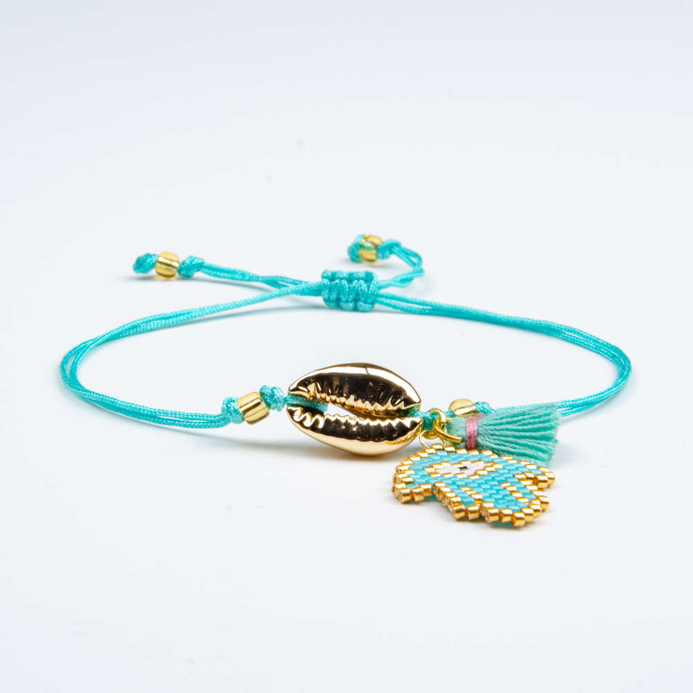 Go2boho MIYUKI Bracelet Evil Eye Pulseras Gold Shell 2019 Women Delica Jewelry Turkish Charm Bracelets Handmade Cord