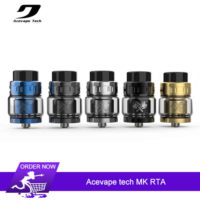 Original Acevape tech MK RTA Tank 5ml Capacity 25mm Single/Dual Coil Atomizer Top Filling Building E-cig Vape Tank Vaporizer