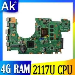 X402CA X502CA материнская плата для ноутбука For Asus X502C X402C F502C F402C материнская плата для ноутбука с 4 g RAM 2117U CPU тесты 100% OK