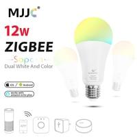ZIGBEE LED Bulb RGBCCT E27 E26 12W Dimmable ZLL Smart Light Link AC 110V 220V 230V APP Control LED Lamp Work with Alexa Echo