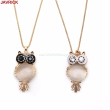 Women Lady OWL Pendant Long Chain Rhinestone Stone Necklace Jewelry Fashion #H058#
