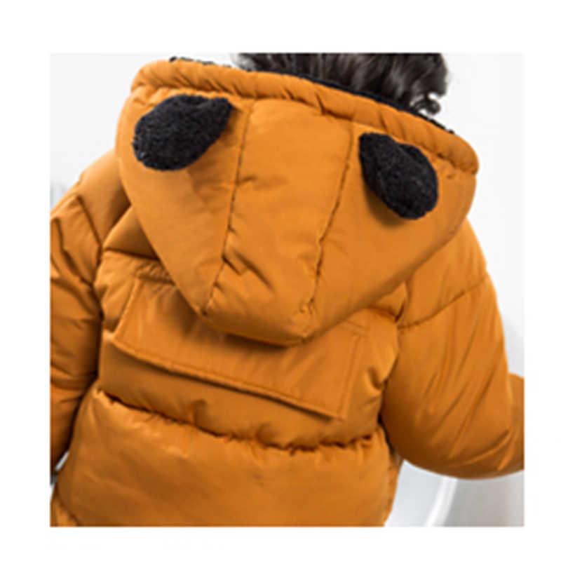 Детская зимняя куртка, осенне-зимнее пальто с капюшоном для маленьких девочек, плотная теплая одежда, Детская куртка, Детская верхняя одежда, пальто для мальчиков и девочек, парка