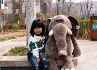 huge 100cm jungle elephant plush toy soft doll hugging pillow toy Christmas gift s2547