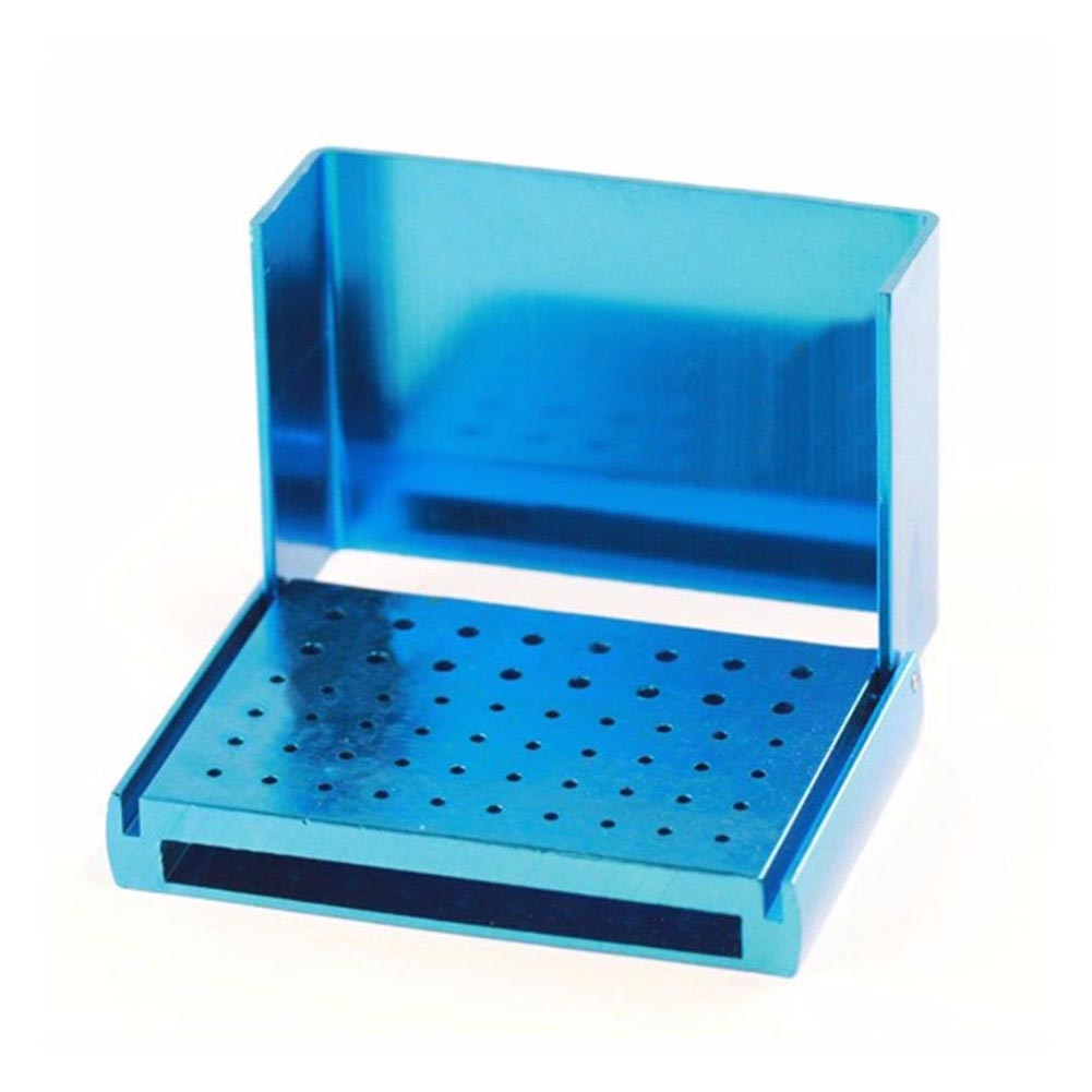 1 Pc 58 Holes Dental Bur Holder Stand Autoclave Disinfection Box Case SDF-SHIP