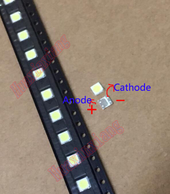 100PCS/Lot LG SMD LED 3535 6V 2W Cold White High Power For TV/LCD Backlight Application