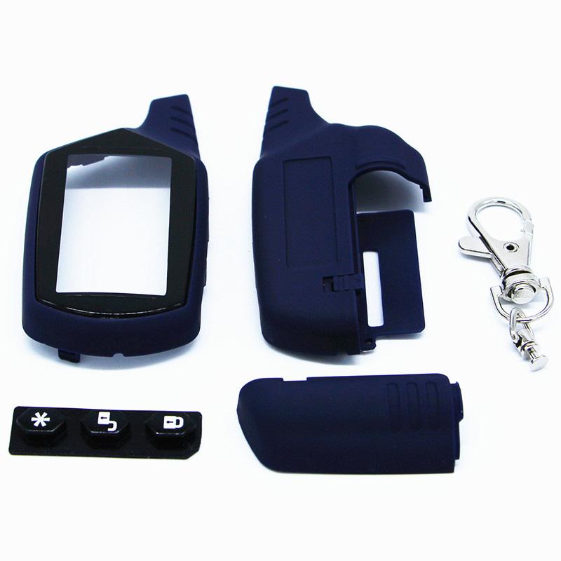 HTB1QICrPpXXXXXsXpXXq6xXFXXXh - Starline A91 Key Shell Keychain Case For Russian Version Starline A91 lcd Remote Two Way Car Alarm System