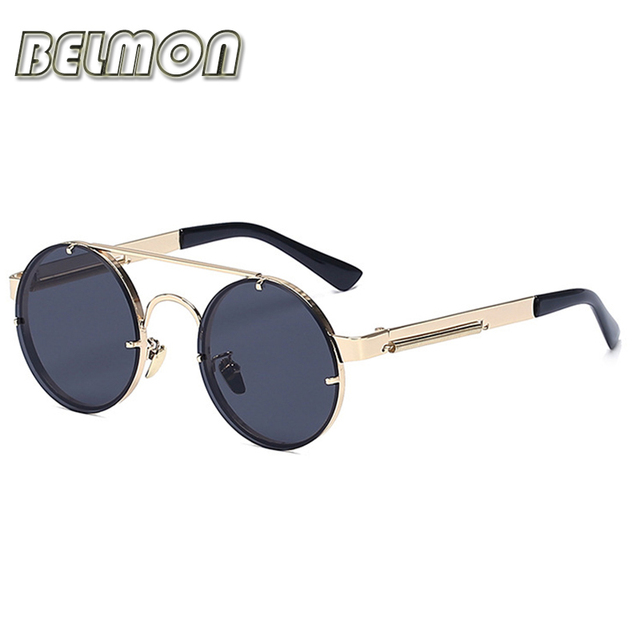 Moda Rodada Óculos De Sol Das Mulheres Dos Homens Marca de Luxo Designer de Óculos de Sol Círculo Retro Senhoras Do Vintage Do Sexo Masculino Para Feminino Oculos RS237