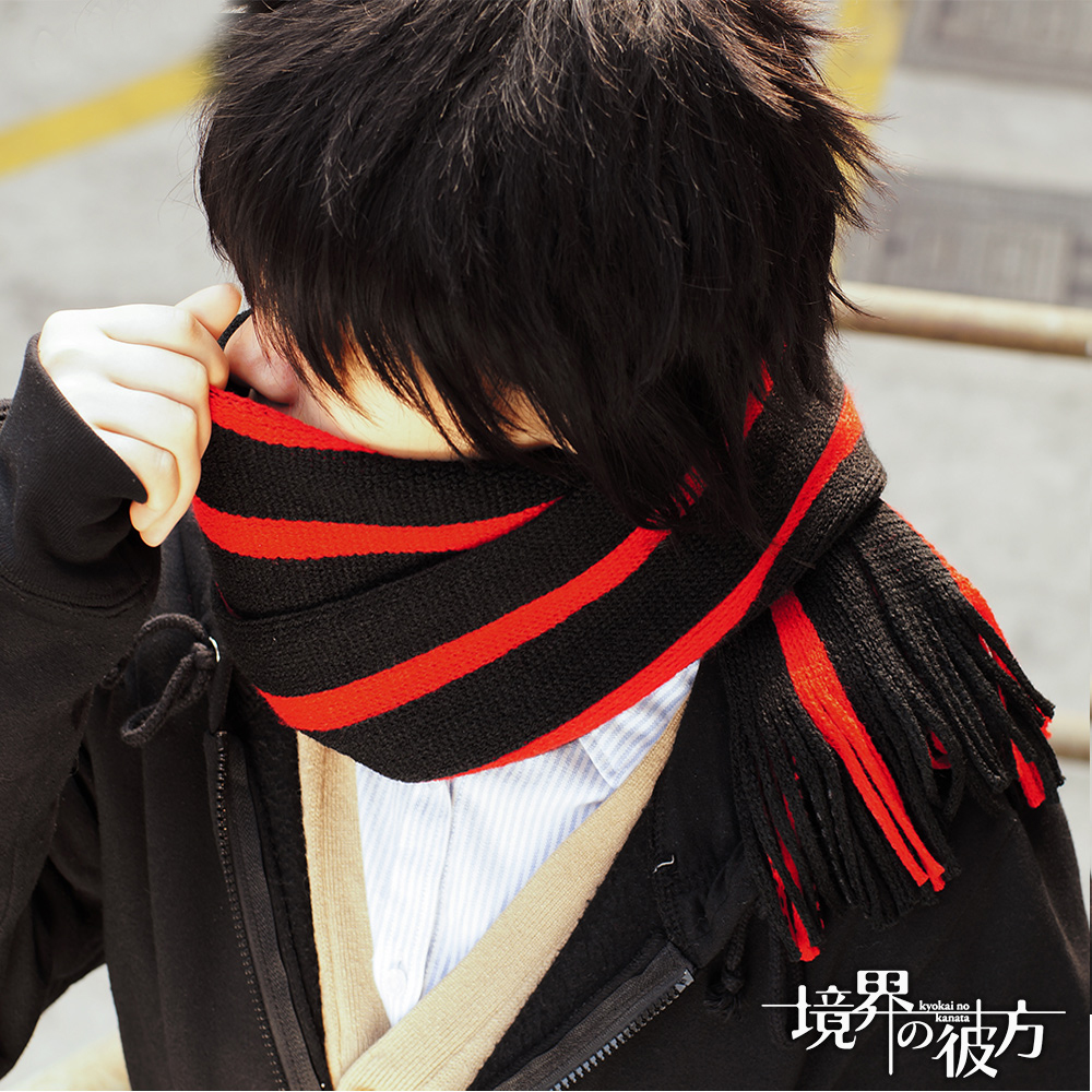 Anime Kyokai no Kanata Nase Hiroomi cosplay Plus Length Knitted Cosplay Scarf Winter Neckerchief in stock free shipping 2016